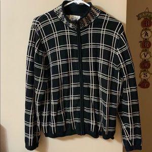 Woman's Talbots zip up sweater